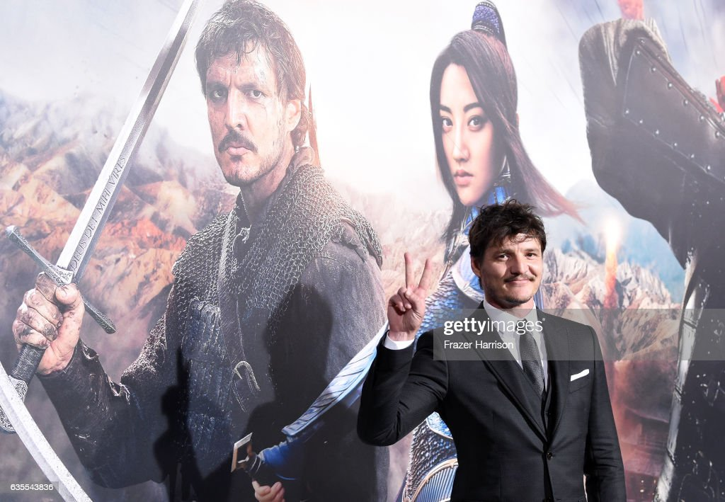 Actor Pedro Pascal attends the premiere of Universal Pictures' 'The Great Wall' at TCL Chinese Theatre IMAX on February 15, 2017 in Hollywood, California.