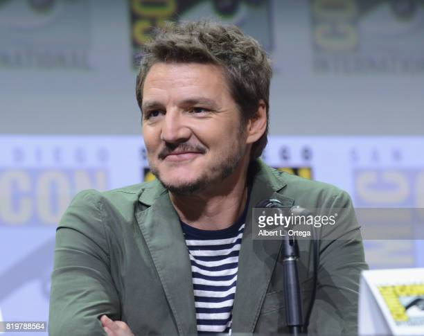 Actor Pedro Pascal speaks onstage at the 20th Century FOX panel during ComicCon International 2017 at San Diego Convention Center on July 20 2017 in...