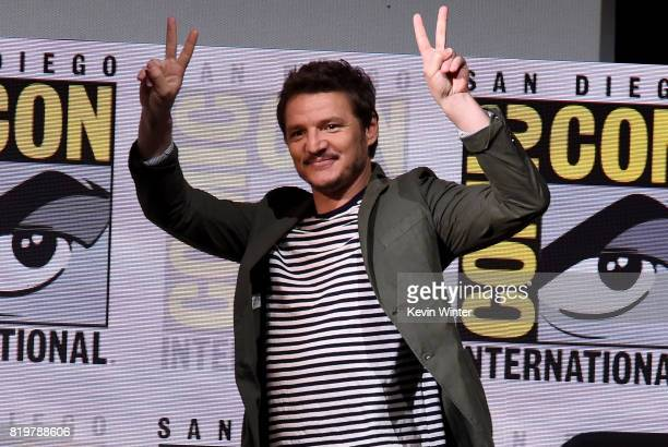 Actor Pedro Pascal walks onstage at the 20th Century FOX panel during ComicCon International 2017 at San Diego Convention Center on July 20 2017 in...