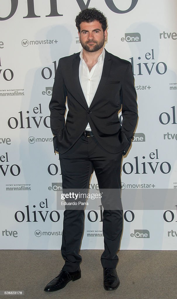Actor Pep Ambros attends 'El olivo' premiere at Capitol cinema on May 04, 2016 in Madrid, Spain.