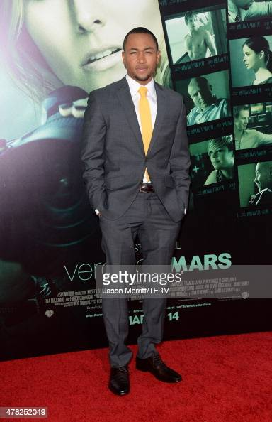 Actor Percy Daggs III arrives at the Los Angeles premiere of 'Veronica Mars' at TCL Chinese Theatre on March 12 2014 in Hollywood California