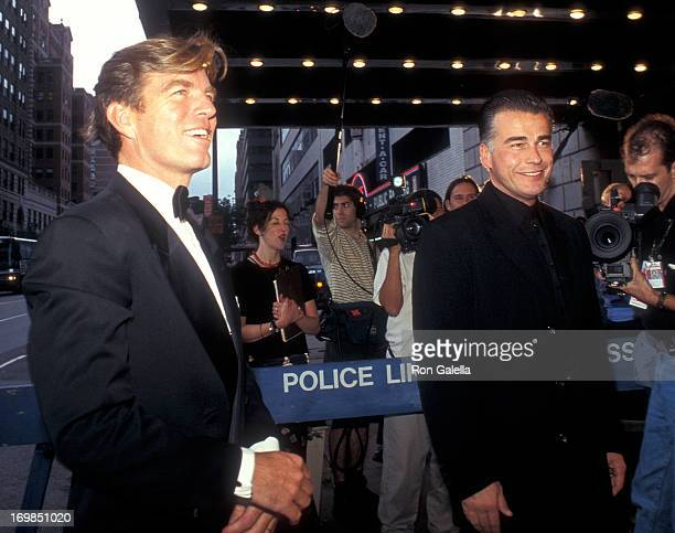 Actor Peter Bergman and actor Ian Buchanan attend the Seventh Annual Soap Opera Update Awards on September 28 1996 at the Manhattan Center in New...
