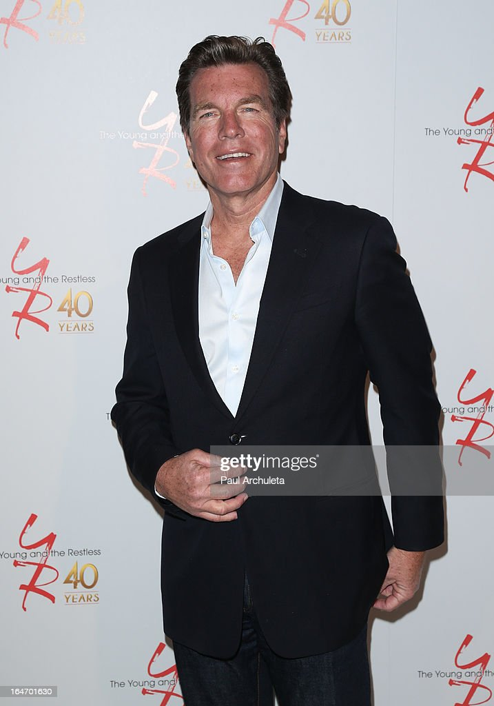 Actor <a gi-track='captionPersonalityLinkClicked' href=/galleries/search?phrase=Peter+Bergman&family=editorial&specificpeople=214085 ng-click='$event.stopPropagation()'>Peter Bergman</a> attends 'The Young & The Restless' 40th anniversary cake cutting ceremony at CBS Television City on March 26, 2013 in Los Angeles, California.