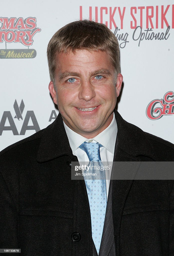 Actor <a gi-track='captionPersonalityLinkClicked' href=/galleries/search?phrase=Peter+Billingsley&family=editorial&specificpeople=1543122 ng-click='$event.stopPropagation()'>Peter Billingsley</a> attends the 'A Christmas Story: The Musical' Broadway Opening Night at Lunt-Fontanne Theatre on November 19, 2012 in New York City.