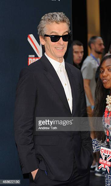 Actor Peter Capaldi attends BBC America's 'Doctor Who' Premiere Fan Screening at Ziegfeld Theater on August 14 2014 in New York City