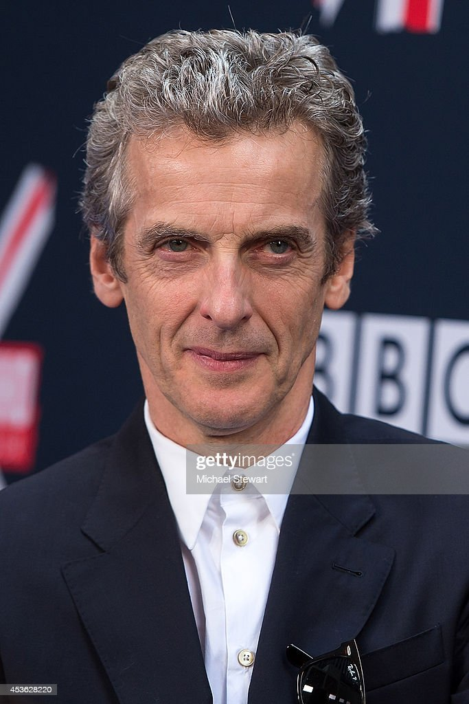 Actor <a gi-track='captionPersonalityLinkClicked' href=/galleries/search?phrase=Peter+Capaldi&family=editorial&specificpeople=639349 ng-click='$event.stopPropagation()'>Peter Capaldi</a> attends BBC America's 'Doctor Who' Premiere Fan Screening at Ziegfeld Theater on August 14, 2014 in New York City.