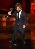 Actor Peter Dinklage accepts Outstanding Supporting Actor in a Drama Series award for 'Game of Thrones' onstage during the 67th Annual Primetime Emmy...
