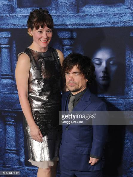 Actor Peter Dinklage and Erica Schmidt arrive at the premiere of HBO's 'Game Of Thrones' Season 6 at TCL Chinese Theatre on April 10 2016 in...