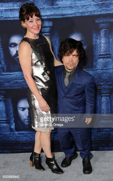 Actor Peter Dinklage and Erica Schmidt arrive for the Premiere Of HBO's 'Game Of Thrones' Season 6 held at TCL Chinese Theatre on April 10 2016 in...