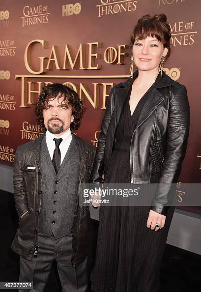 Actor Peter Dinklage and Erica Schmidt attend HBO's 'Game of Thrones' Season 5 Premiere and After Party at the San Francisco Opera House on March 23...