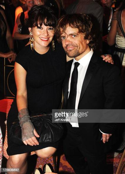Actor Peter Dinklage and Erica Schmidt attend HBO's Official Emmy After Party at The Plaza at the Pacific Design Center on September 18 2011 in Los...