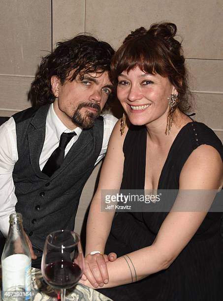 Actor Peter Dinklage and Erica Schmidt attend the after party for HBO's 'Game of Thrones' Season 5 at San Francisco City Hall on March 23 2015 in San...