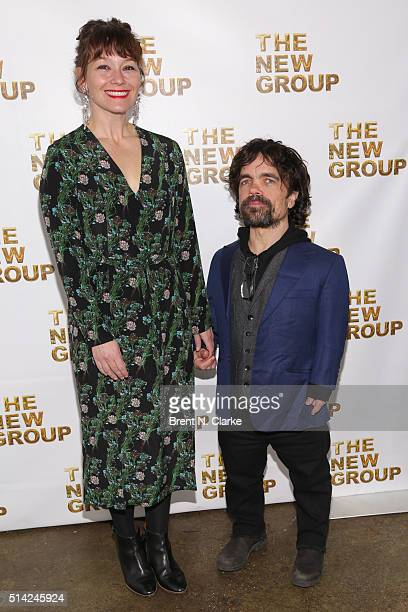 Actor Peter Dinklage and wife Erica Schmidt attend the 2016 New Group Gala held at Tribeca Rooftop on March 7 2016 in New York City