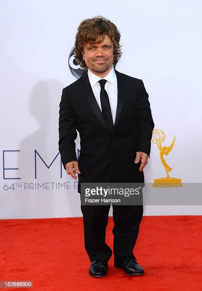 Actor Peter Dinklage arrives at the 64th Annual Primetime Emmy Awards at Nokia Theatre LA Live on September 23 2012 in Los Angeles California