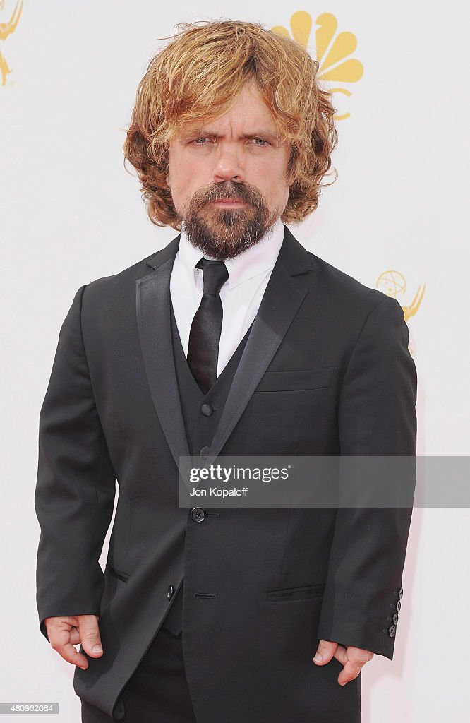 Actor <a gi-track='captionPersonalityLinkClicked' href=/galleries/search?phrase=Peter+Dinklage&family=editorial&specificpeople=215147 ng-click='$event.stopPropagation()'>Peter Dinklage</a> arrives at the 66th Annual Primetime Emmy Awards at Nokia Theatre L.A. Live on August 25, 2014 in Los Angeles, California.