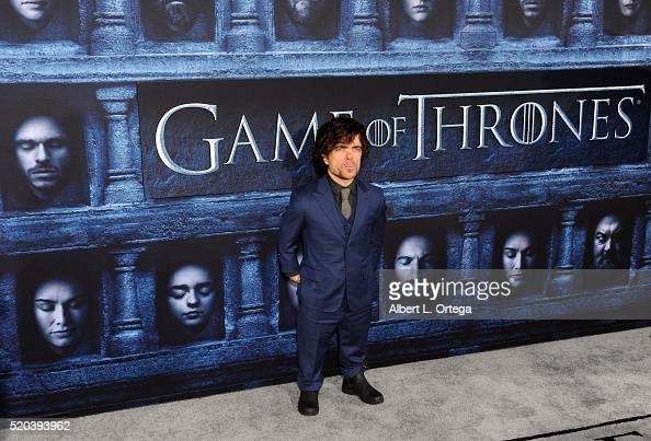 Actor Peter Dinklage arrives for the Premiere Of HBO's 'Game Of Thrones' Season 6 held at TCL Chinese Theatre on April 10 2016 in Hollywood California