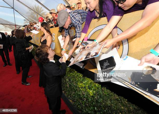 Actor Peter Dinklage attends 20th Annual Screen Actors Guild Awards at The Shrine Auditorium on January 18 2014 in Los Angeles California