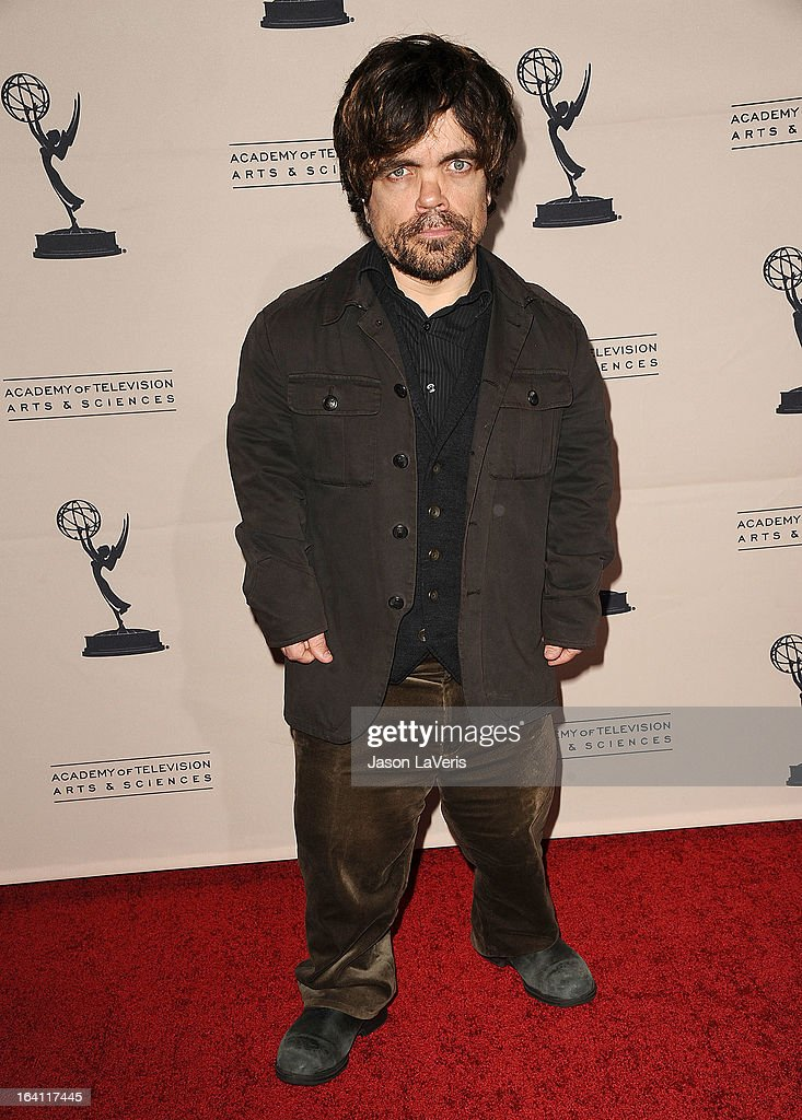 Actor Peter Dinklage attends an evening with 'Game Of Thrones' at TCL Chinese Theatre on March 19, 2013 in Hollywood, California.