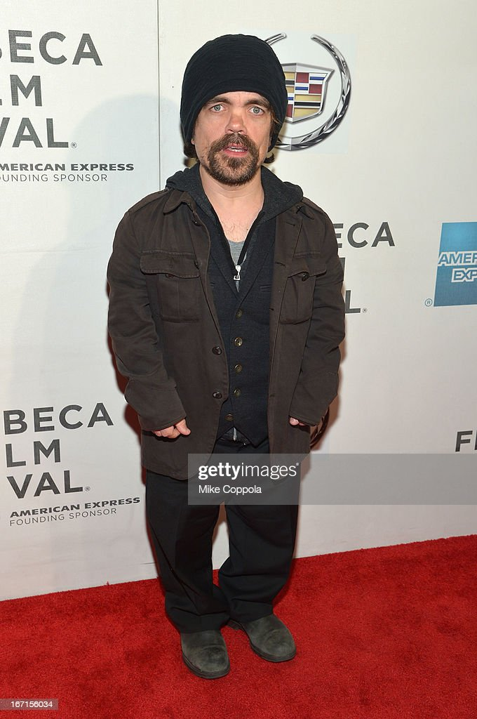 Actor <a gi-track='captionPersonalityLinkClicked' href=/galleries/search?phrase=Peter+Dinklage&family=editorial&specificpeople=215147 ng-click='$event.stopPropagation()'>Peter Dinklage</a> attends the 'A Case Of You' World Premiere during the 2013 Tribeca Film Festival on April 21, 2013 in New York City.
