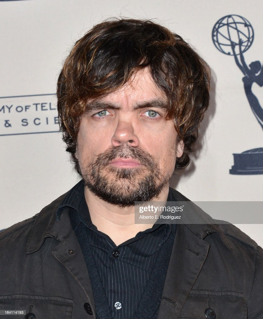 Actor Peter Dinklage attends The Academy of Television Arts & Sciences' Presents An Evening With 'Game of Thrones' at TCL Chinese Theatre on March 19, 2013 in Hollywood, California.