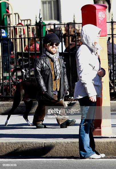 Actor Peter Dinklage is seen walking his dog on the streets of Manhattan on January 18 2010 in New York City