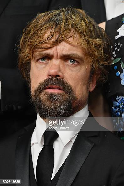 Actor Peter Dinklage of 'Game of Thrones' winner of the Oustanding Drama Series award poses in the press room during the 68th Annual Primetime Emmy...