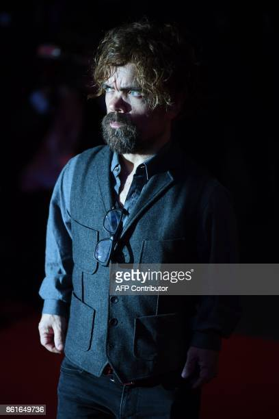 US actor Peter Dinklage poses on the red carpet attending the UK premiere of the film Three Billboards Outside Ebbing Missouri during the closing...