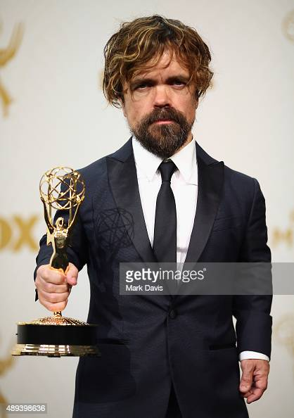 Actor Peter Dinklage winner of the award for Outstanding Supporting Actor in a Drama Series for 'Game of Thrones' poses in the press room at the 67th...