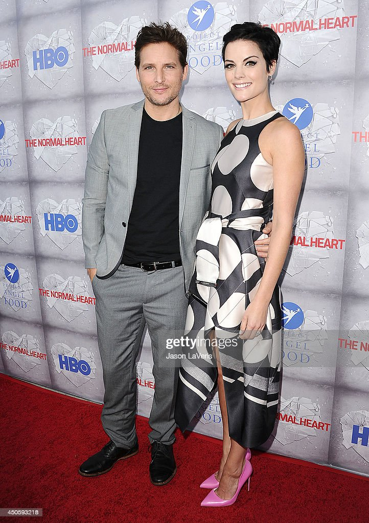 Actor Peter Facinelli and actress Jaimie Alexander attend the premiere of 'The Normal Heart' at The Writers Guild Theatre on May 19 2014 in Beverly...