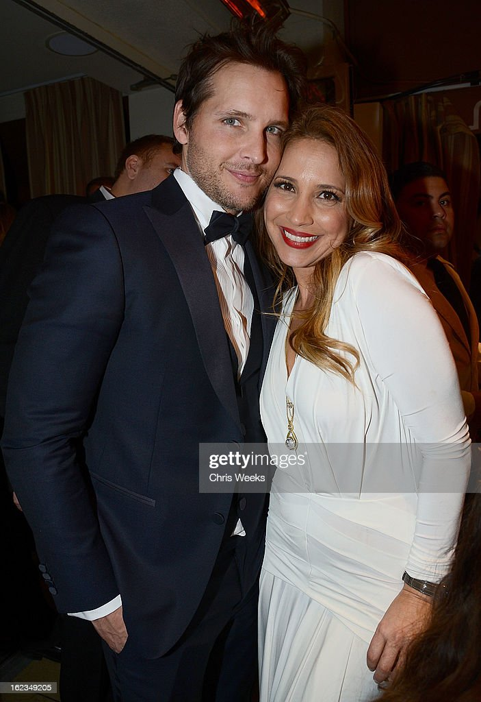 Actor Peter Facinelli and Daya Fernandez attend the Hollywood Domino and Bovet 1822 Gala benefiting Artists For Peace And Justice at Sunset Tower on February 21, 2013 in West Hollywood, California.