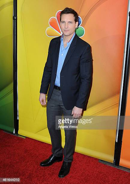Actor Peter Facinelli arrives at NBCUniversal's 2015 Winter TCA Tour Day 2 at The Langham Huntington Hotel and Spa on January 16 2015 in Pasadena...