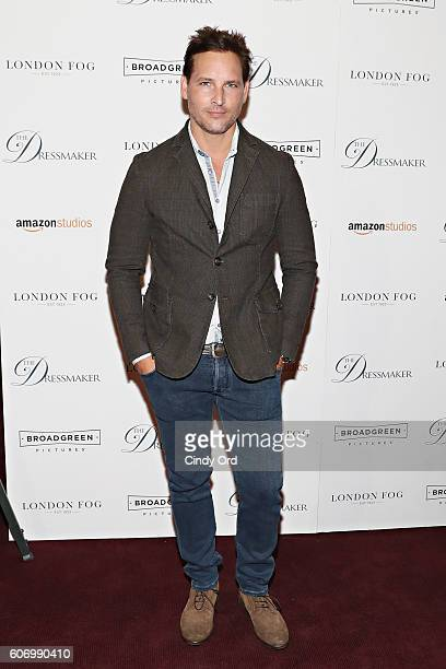 Actor Peter Facinelli attends as London Fog presents a New York special screening of 'The Dressmaker' on September 16 2016 in New York City