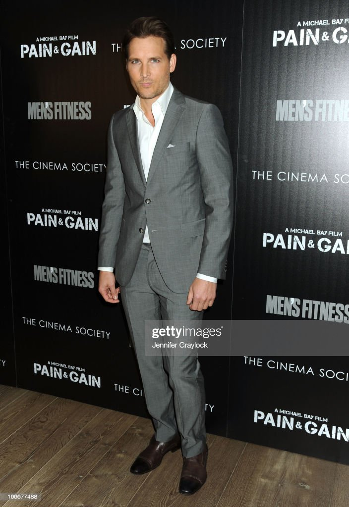 Actor Peter Facinelli attends The Cinema Society and Men's Fitness host a screening of 'Pain and Gain' held at Crosby Street Hotel on April 15, 2013 in New York City.