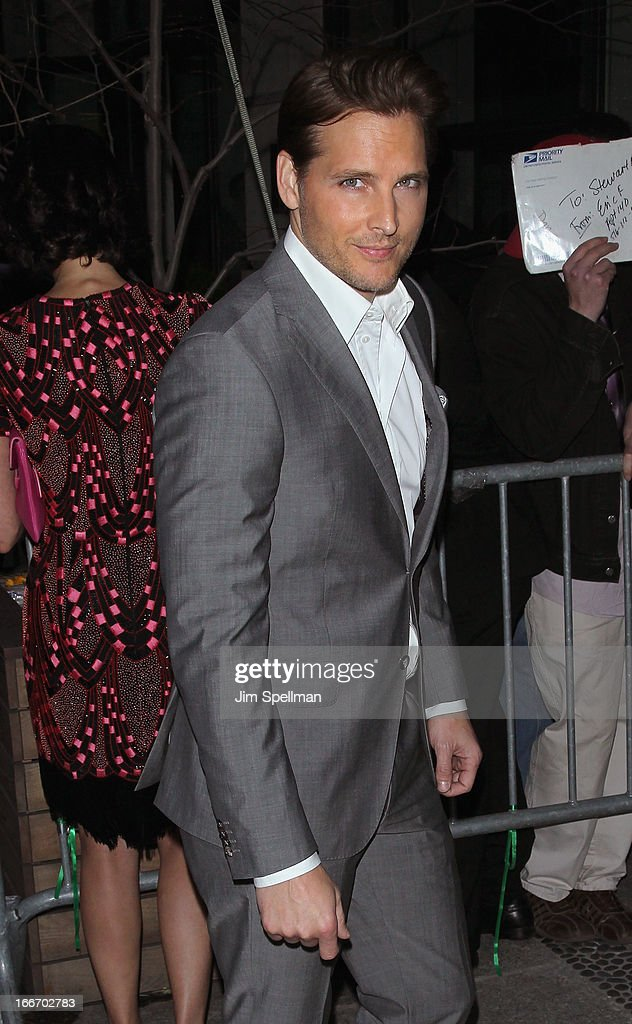 Actor Peter Facinelli attends The Cinema Society and Men's Fitness screening of 'Pain and Gain' at Crosby Street Hotel on April 15, 2013 in New York City.