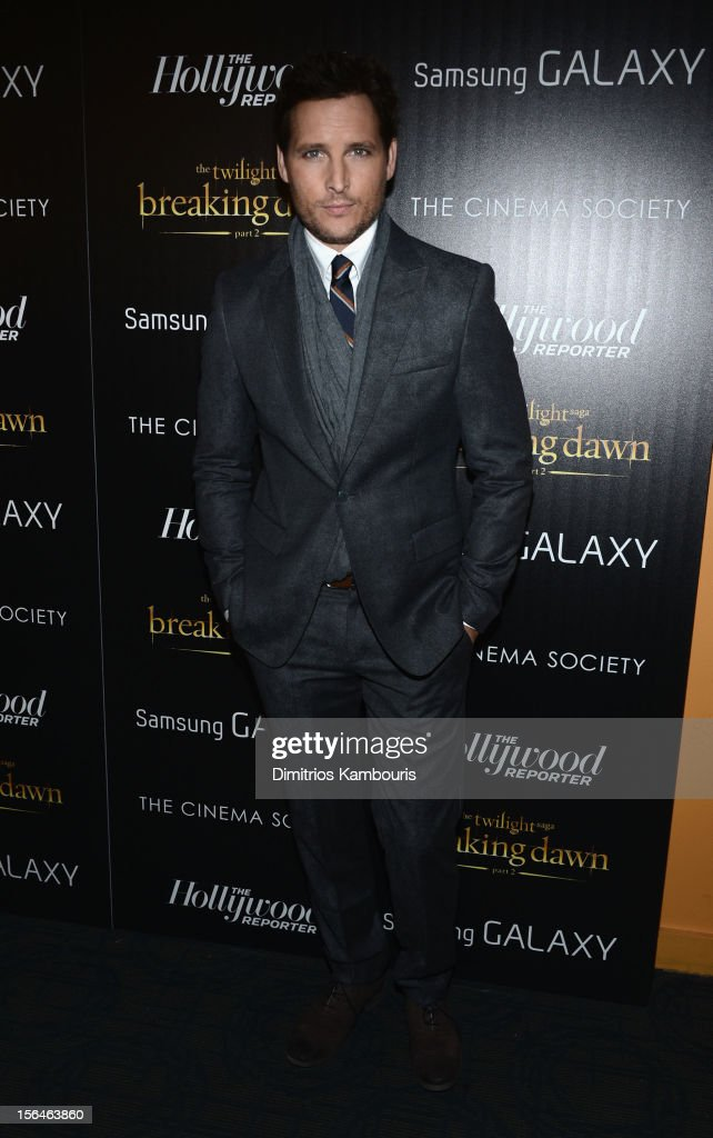 Actor <a gi-track='captionPersonalityLinkClicked' href=/galleries/search?phrase=Peter+Facinelli&family=editorial&specificpeople=233464 ng-click='$event.stopPropagation()'>Peter Facinelli</a> attends The Cinema Society with The Hollywood Reporter & Samsung Galaxy screening of 'The Twilight Saga: Breaking Dawn Part 2' on November 15, 2012 in New York City.