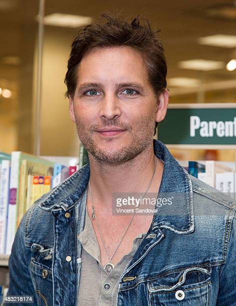 Actor Peter Facinelli signs and discusses his new book 'After The Red Rain' at Barnes Noble at The Grove on August 6 2015 in Los Angeles California