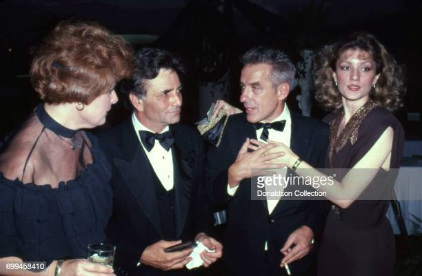 Actor Peter Falk and film maker John Cassavetes attends an event with Shera Danese in November 1981 in Los Angeles California