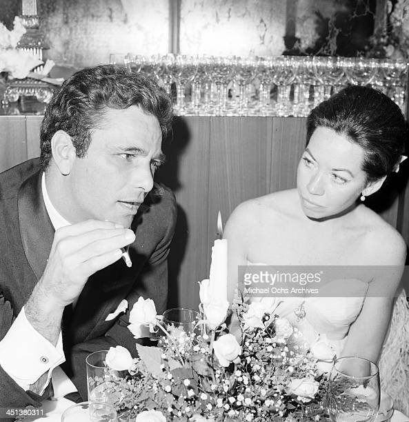 Actor Peter Falk and wife Alyce Mayo attends a party in Los Angeles California
