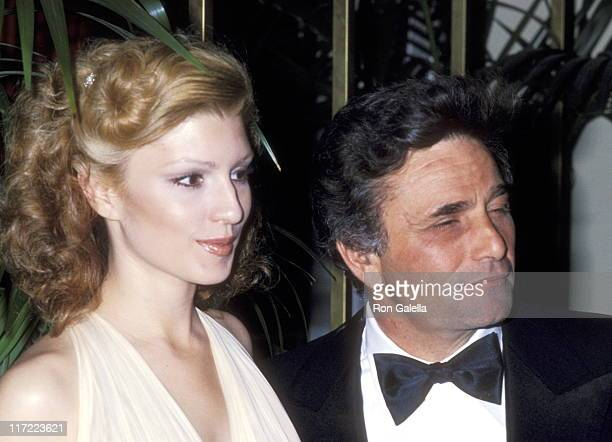 Actor Peter Falk and wife Shera Danese attend the 35th Annual Golden Globe Awards on January 28 1978 at Beverly Hilton Hotel in Beverly Hills...