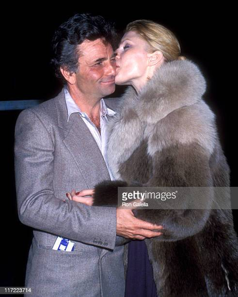 Actor Peter Falk and wife Shera Danese attend the Opening Night Performance of Lily Tomlin's OneWoman Show 'Appearing Nightly' on January 31 1978 at...
