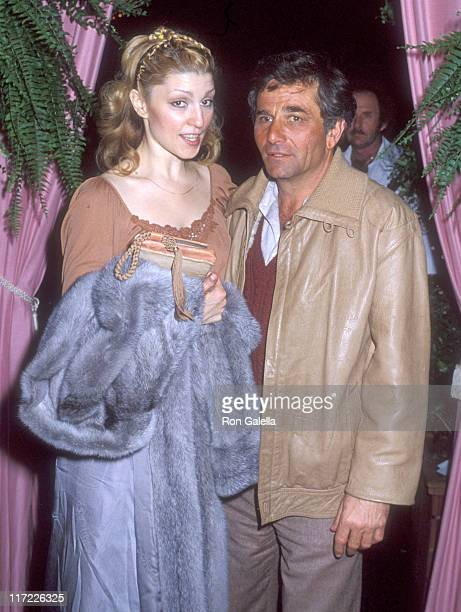 Actor Peter Falk and wife Shera Danese attend the premiere of 'The Champ' on March 20 1979 at MGM Studios in Culver City