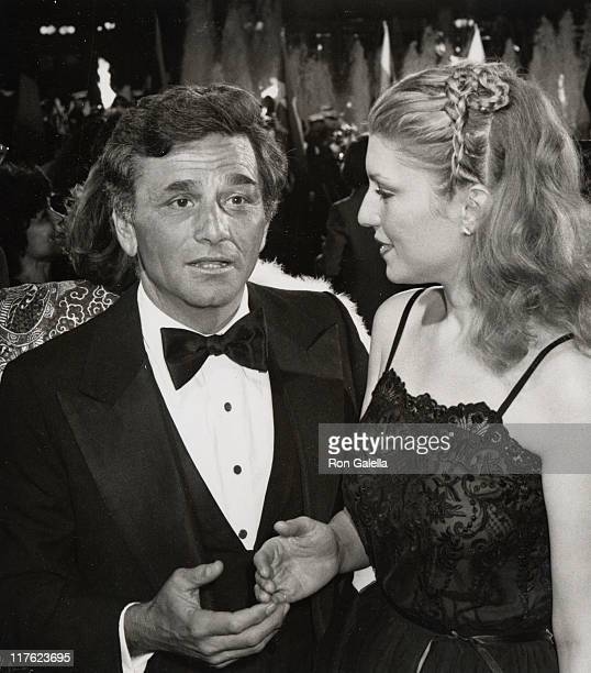 Actor Peter Falk and wife Shera Danese attend the premiere party for 'Hair' on March 14 1979 at the ABC Center in Century City California