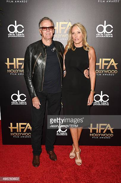 Actor Peter Fonda and Parky Devogelaere attend the 19th Annual Hollywood Film Awards at The Beverly Hilton Hotel on November 1 2015 in Beverly Hills...