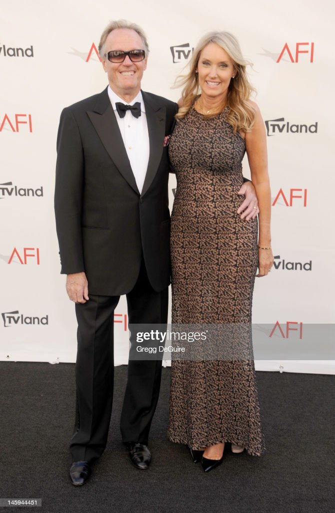 Actor <a gi-track='captionPersonalityLinkClicked' href=/galleries/search?phrase=Peter+Fonda&family=editorial&specificpeople=213498 ng-click='$event.stopPropagation()'>Peter Fonda</a> and Parky Fonda arrive at the 40th AFI Life Achievement Award honoring Shirley MacLaine at Sony Studios on June 7, 2012 in Los Angeles, California.
