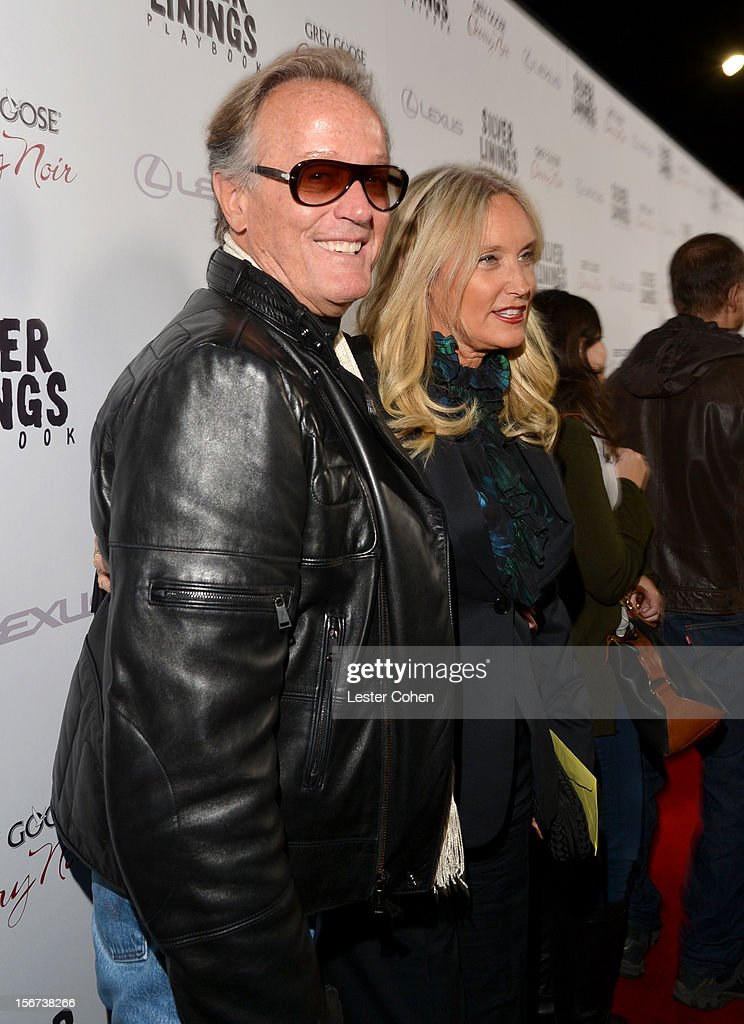 Actor Peter Fonda and Parky Fonda attend the ''Silver Linings Playbook' Los Angeles special screening at the Academy of Motion Picture Arts and Sciences on November 19, 2012 in Beverly Hills, California.