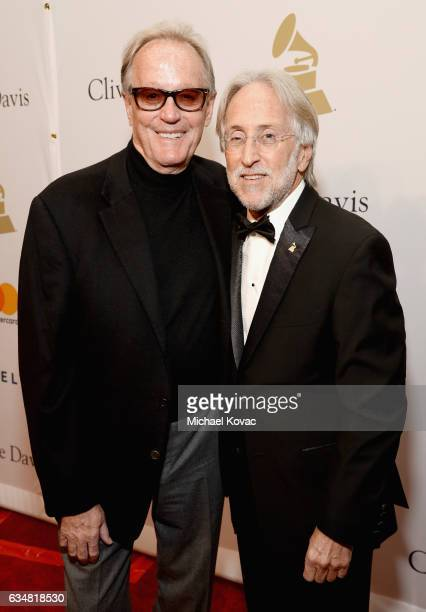 Actor Peter Fonda and President/CEO of The Recording Academy and GRAMMY Foundation President/CEO Neil Portnow attend PreGRAMMY Gala and Salute to...