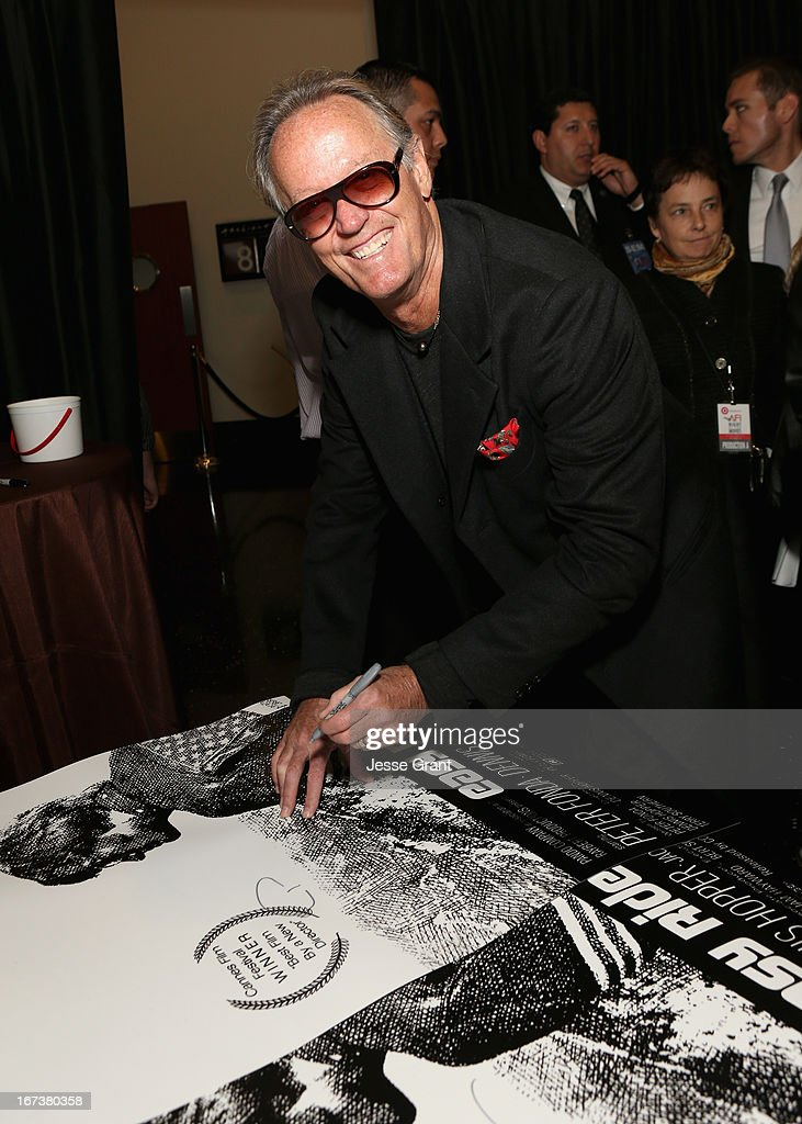Actor <a gi-track='captionPersonalityLinkClicked' href=/galleries/search?phrase=Peter+Fonda&family=editorial&specificpeople=213498 ng-click='$event.stopPropagation()'>Peter Fonda</a> attends Target Presents AFI's Night at the Movies at ArcLight Cinemas on April 24, 2013 in Hollywood, California.