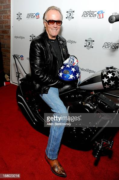 Actor Peter Fonda attends the launch of his new men's fashion line and protective riding gear collection for Troy Lee Designs at Troy Lee Boutique...