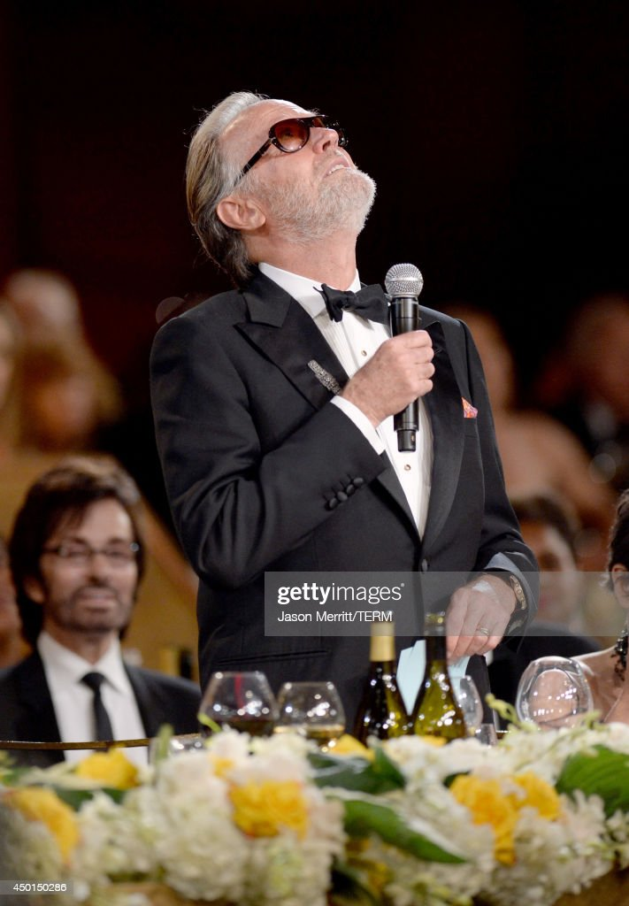 Actor <a gi-track='captionPersonalityLinkClicked' href=/galleries/search?phrase=Peter+Fonda&family=editorial&specificpeople=213498 ng-click='$event.stopPropagation()'>Peter Fonda</a> speaks onstage during the 2014 AFI Life Achievement Award: A Tribute to Jane Fonda at the Dolby Theatre on June 5, 2014 in Hollywood, California. Tribute show airing Saturday, June 14, 2014 at 9pm ET/PT on TNT.