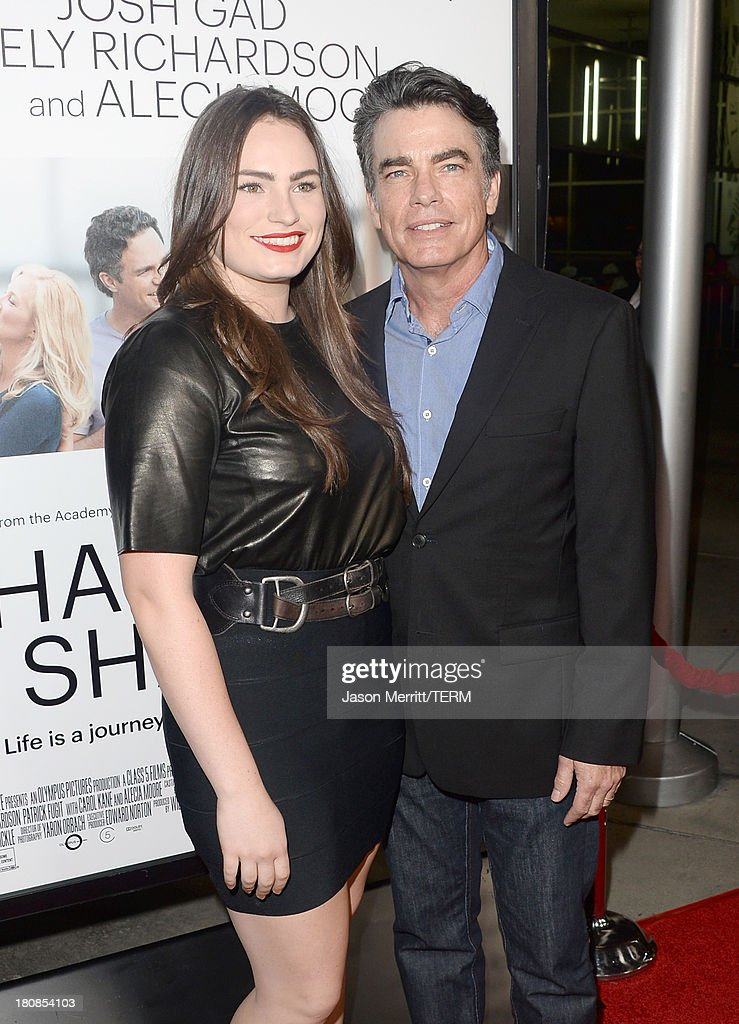 Actor <a gi-track='captionPersonalityLinkClicked' href=/galleries/search?phrase=Peter+Gallagher+-+Actor&family=editorial&specificpeople=171778 ng-click='$event.stopPropagation()'>Peter Gallagher</a> (R) and daughter, singer Kathryn Gallagher, attend the premiere of Roadside Attractions' 'Thanks For Sharing' at ArcLight Cinemas on September 16, 2013 in Hollywood, California.